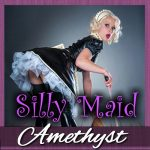 A silly bimbo maid like you won't be able to help yourself!